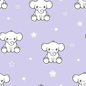 Cute baby elephant and stars