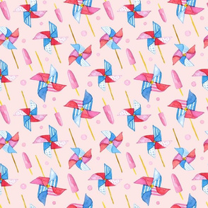 Wind Swirl on pink background