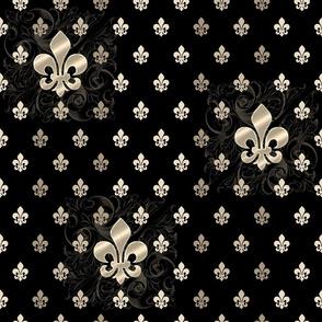 Fleur De Lys-Black & Gold SM2