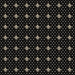 Fleur De Lys-Black & Gold SM grid