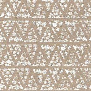 Boho Mudcloth Linen . Natural Ivory