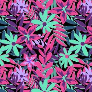 Tropical Neon Florals