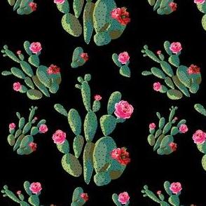 """4"""" Retro Cactus - Black"""