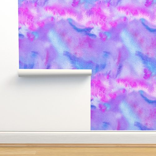 Wallpaper Abstract Pink Blue And Purple Watercolor