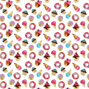 Watercolor sweets mini