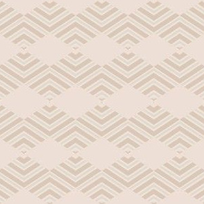 Sandy Beige Chevron Diamond Stripes