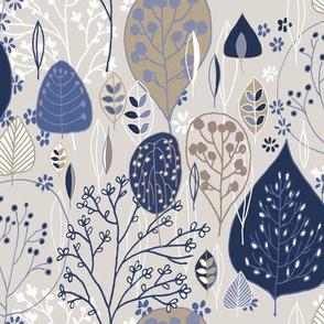 Linen Neutrals & Blue Trees