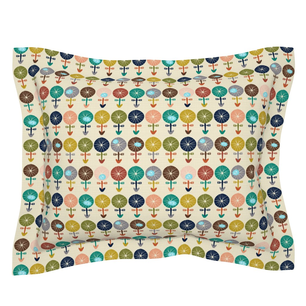Sebright Pillow Sham featuring Bicycle meadow by danidesign