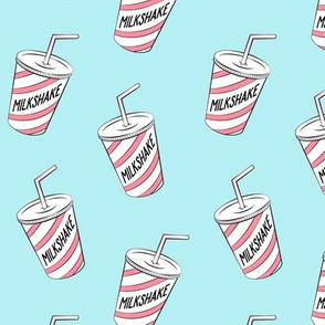 milkshake - pink on blue