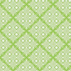Lattice green and white