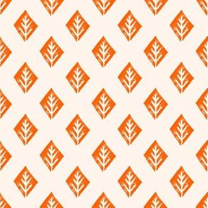 diamond fabric // safari mudcloth linocut design champagne/orange