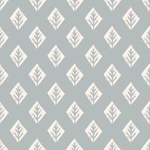 diamond fabric // safari mudcloth linocut design champagne/grey