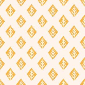 diamond fabric // safari mudcloth linocut design champagne/turmeric yellow