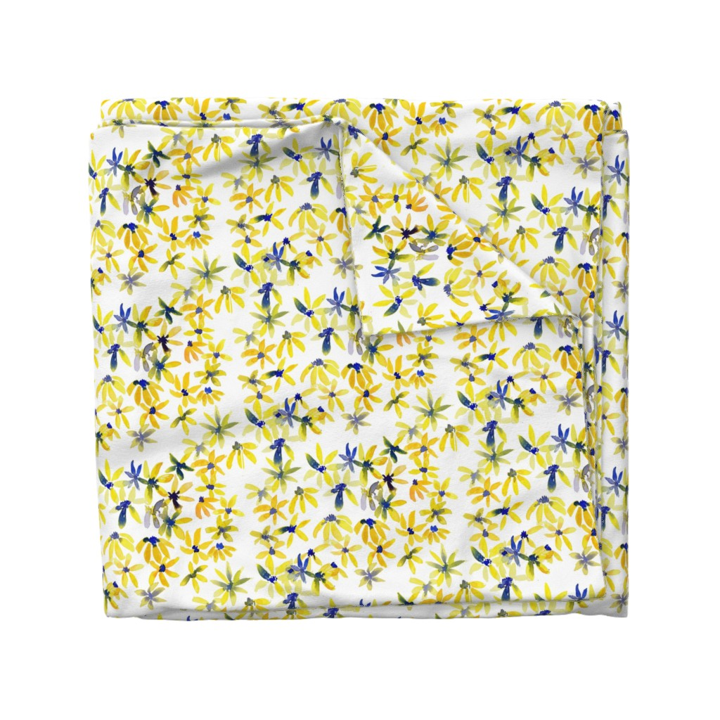 Wyandotte Duvet Cover featuring blue eyed susan by rosemaryanndesigns