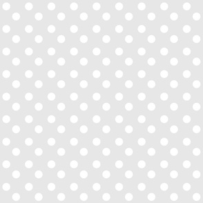 polka dots MEDIUM - gray white