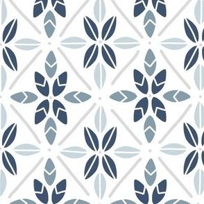 Leaves Tiled in Blue