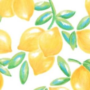 Large Yellow and Green Lemons