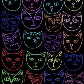 Neon Cats