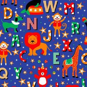 Animal Alphabet Parade (Blue)