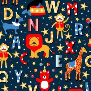 Animal Alphabet Parade (Dark)