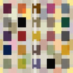 Color Block Linen . Mid-Century Neutral #2