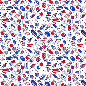 Red White and Blue Summer Treats - © Lucinda Wei