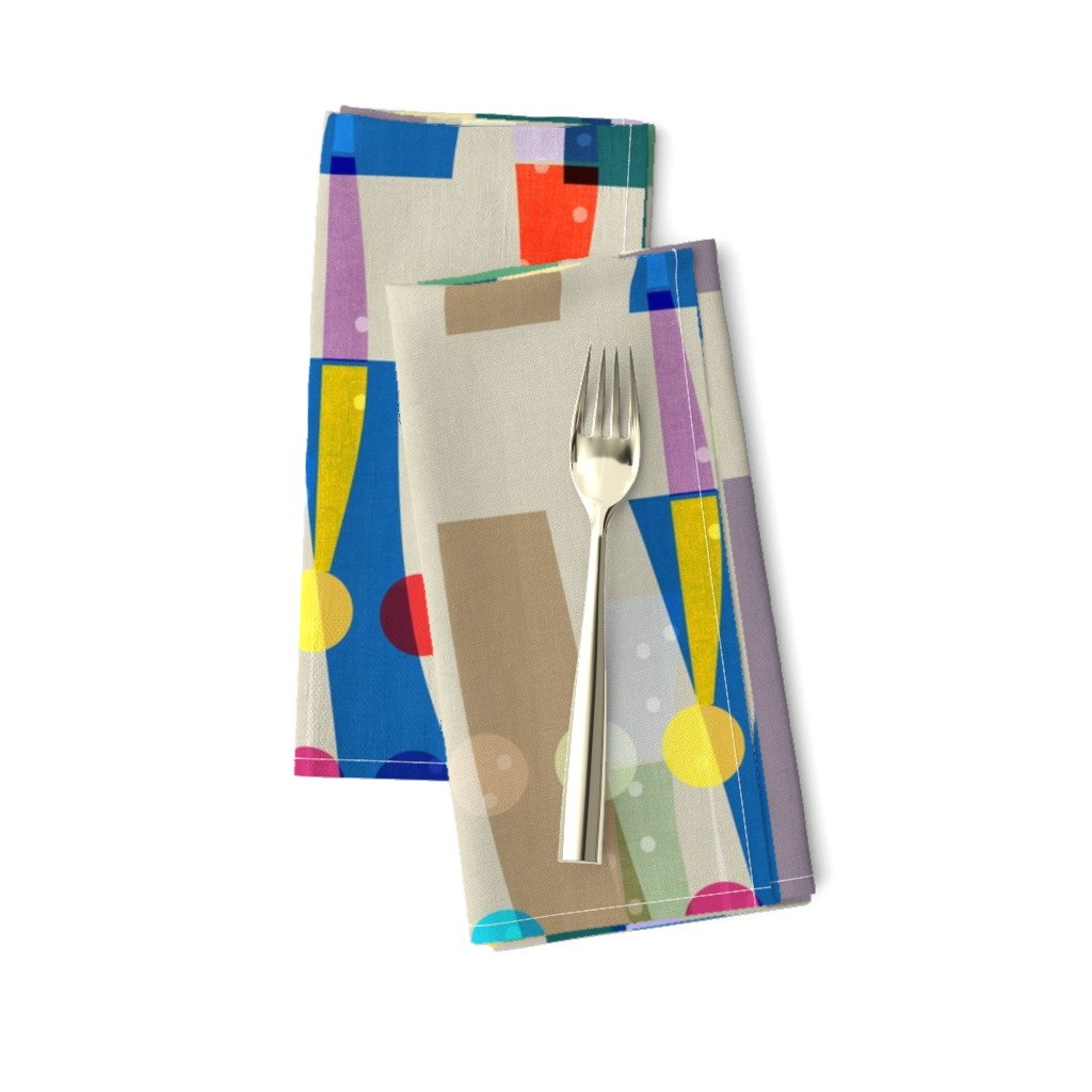 Amarela Dinner Napkins featuring Color Block Linen . Matisse Interrupted  by barbara_moffett