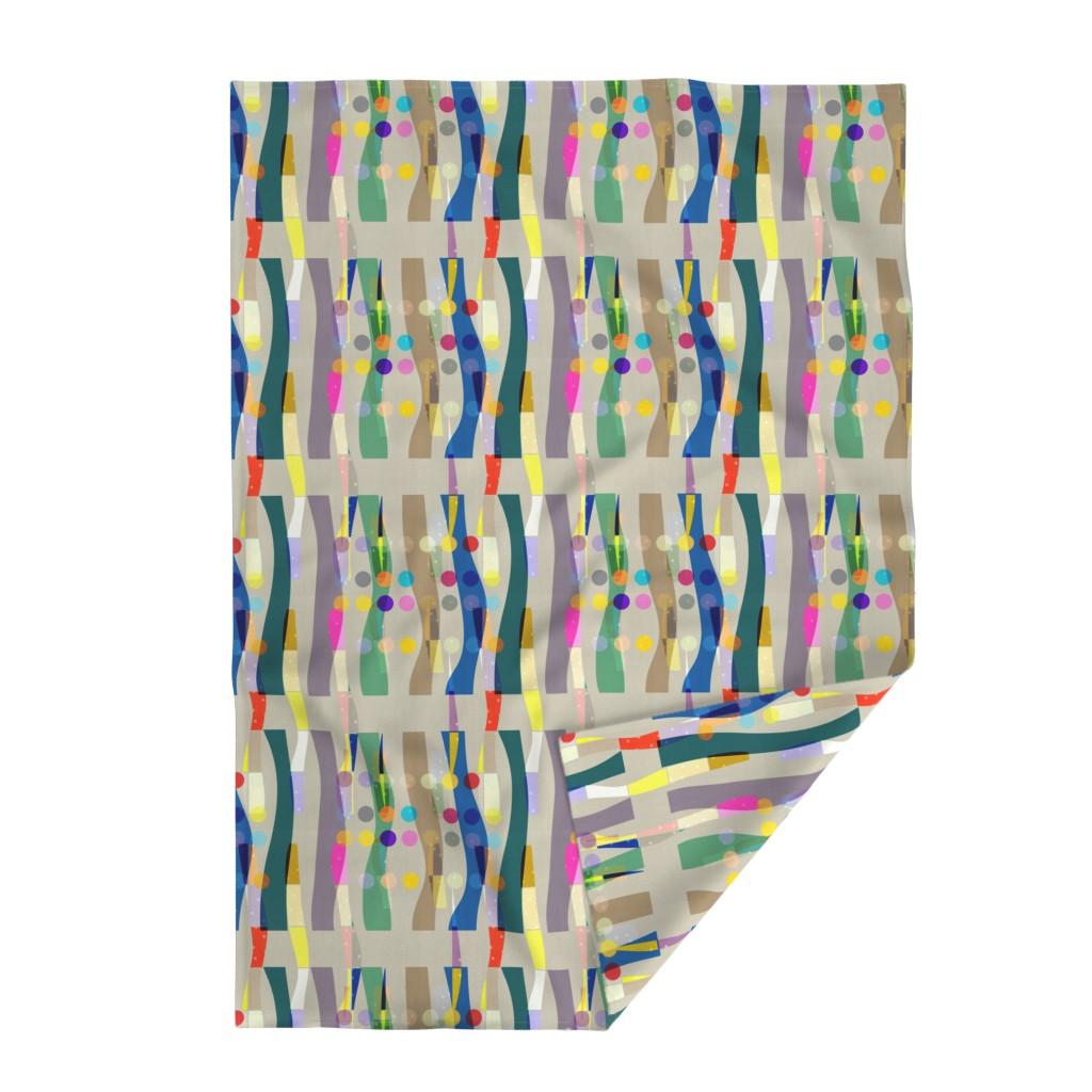 Lakenvelder Throw Blanket featuring Color Block Linen . Matisse Interrupted  by barbara_moffett