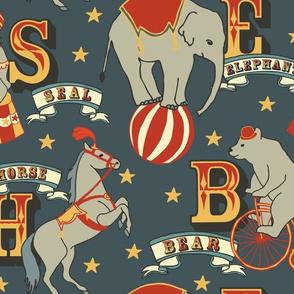Alphabet  Animal Vintage - Dark