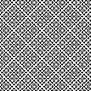 Fair Isle Geometric Black On White 1:6