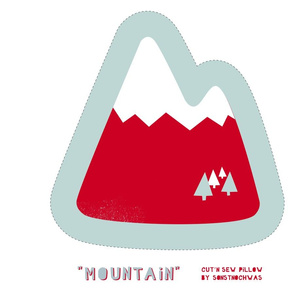 """Cut and Sew """"Mountain"""" Pillow"""