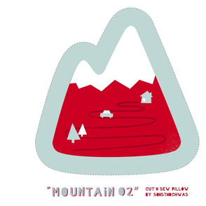 """Cut and Sew """"Mountain 02"""" Pillow"""