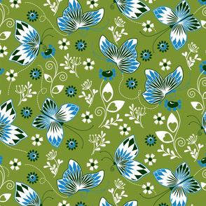 Butterfly garden green