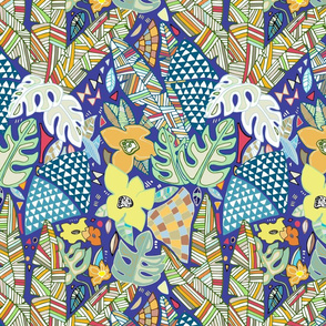 Tropical Abstraction (blue)