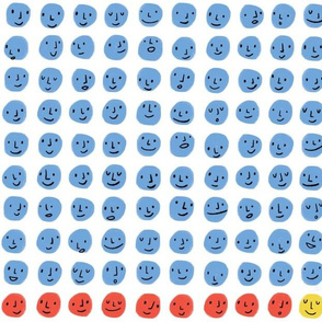 100 Smiling Dots