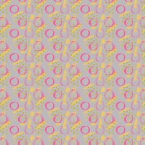 Brushy dots and xs