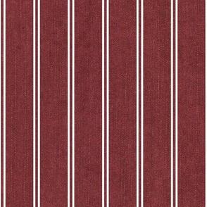 Dusty cedar with stripes
