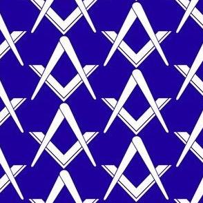 "Large 2"" (No G) Blue Large Masonic Square Compass"