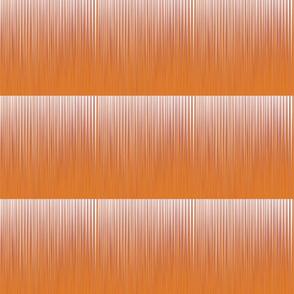 Thin White Lines on Tangerine Orange Upholstery Fabric
