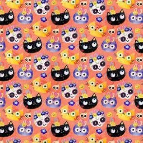 cats and skulls
