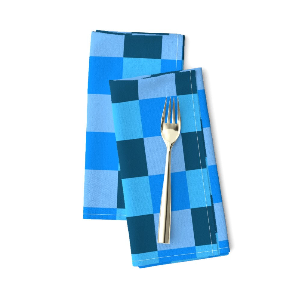 Amarela Dinner Napkins featuring Coordinating Blues by jenfur