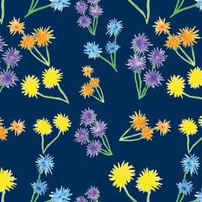 Whimsical Flowers Dark