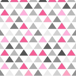 Pink Gray Triangle