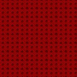 Red Wicker Weave