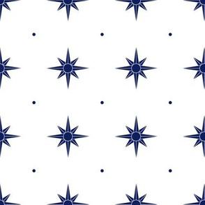 Compass Rose (navy)