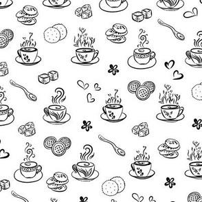 tea time / black on white background