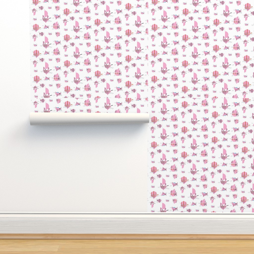 Isobar Durable Wallpaper featuring Pink - Airships by the_wookiee_workshop