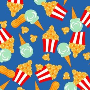 Colorful Circus Food Treats Blue