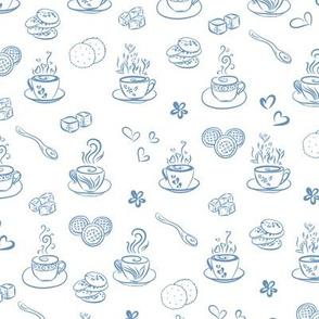 tea time / riverside on white