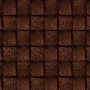 Dark Chocolate Leather Weave